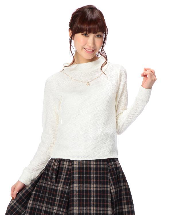 ☆WEB LIMITED☆ネックレス付きプチハイネック