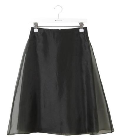 オーガンジー×レイヤードスカート