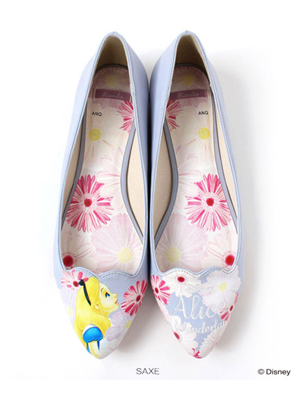 ●Disney Alice in Wonderland●Flower pointy toe flats