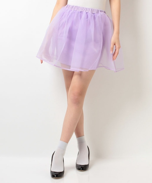 【TGC販売連動】オーガンジーツキタイトスカート