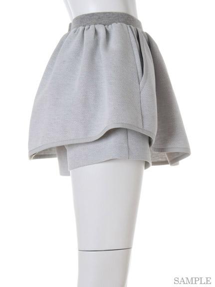 ハイウエストスカートパンツ