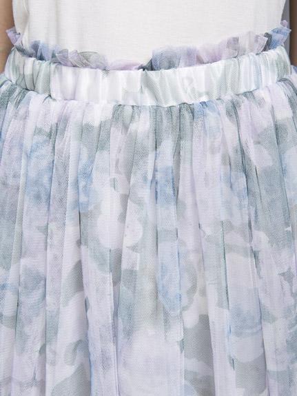 ミリオンカラッツ フラワープリントチュールスカート