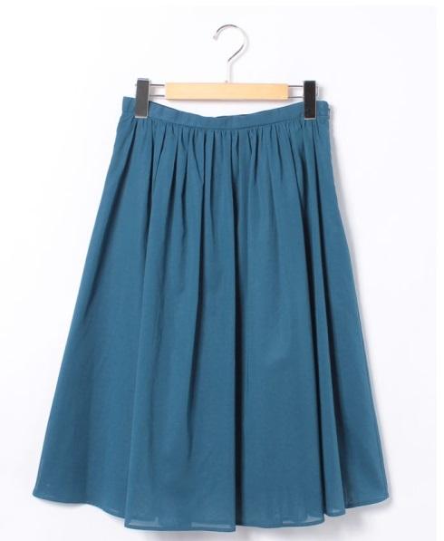 Ballsey  コットンボイルタックギャザースカート