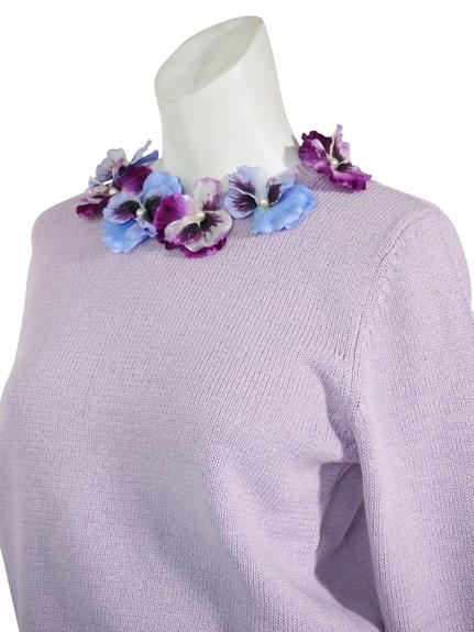 ハニーミーハニー Pansy knit pullover