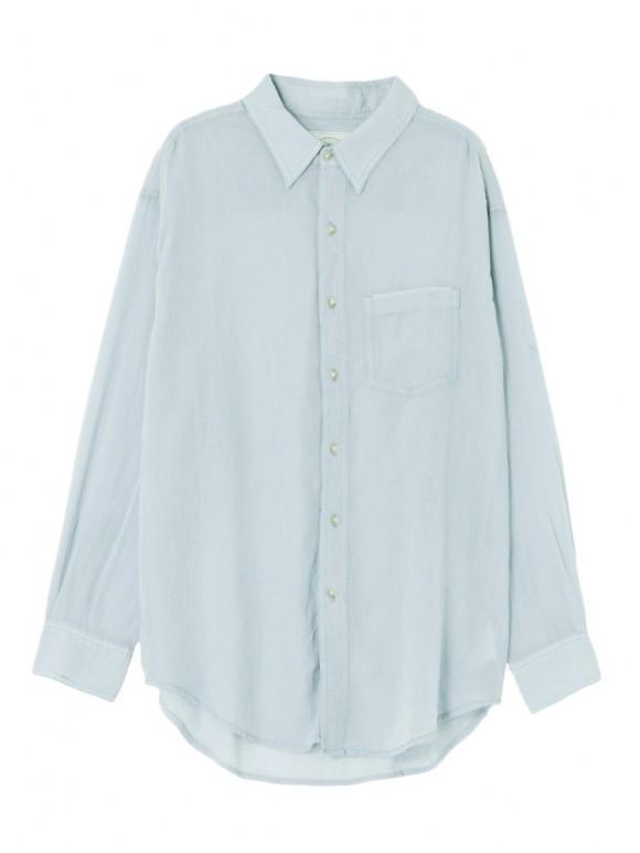 Ungrid ソフトウォッシュカラーシャツ