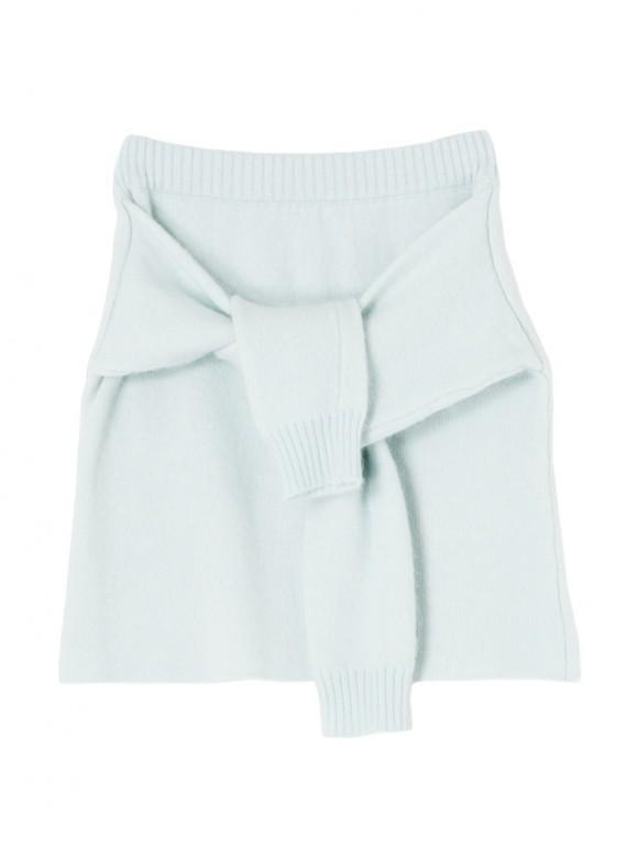 腰巻き風アンゴラニットスカート