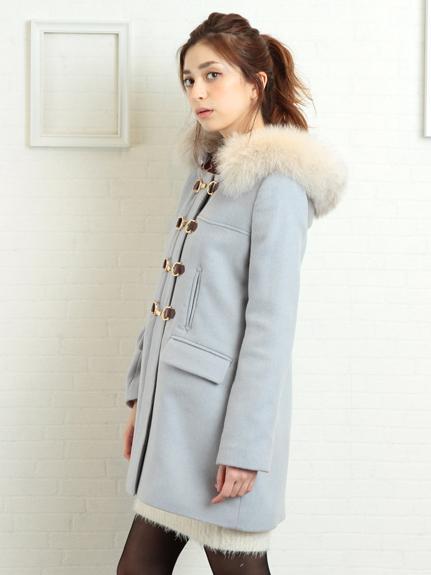 MIIA (ミーア)  ビットダッフルファー付コート