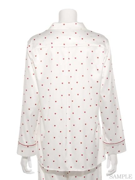 ジェラートピケ ハートサテンシャツ2