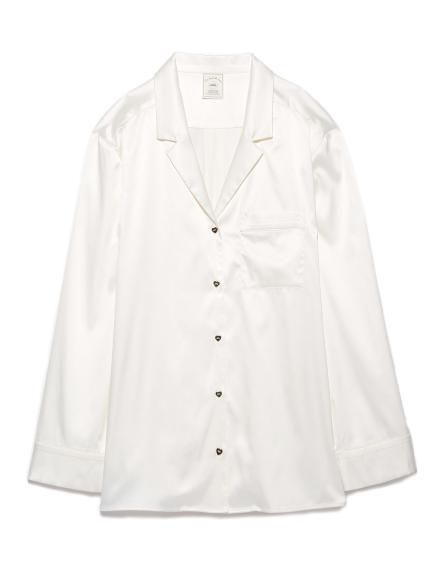 ジェラートピケ ハートサテンシャツ3