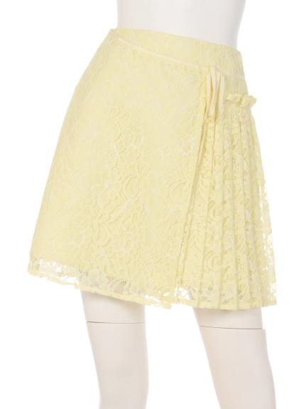 リランドチュール 部分プリーツレースAラインスカート2