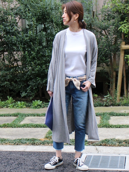 BED&BREAKFAST RECYCLE JERSEY Long Cardigan