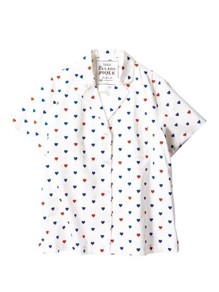 ジェラートピケ ハートシャツ2