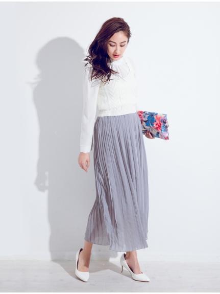 フィフス  【Decologコラボ】プリーツシフォンマキシスカート