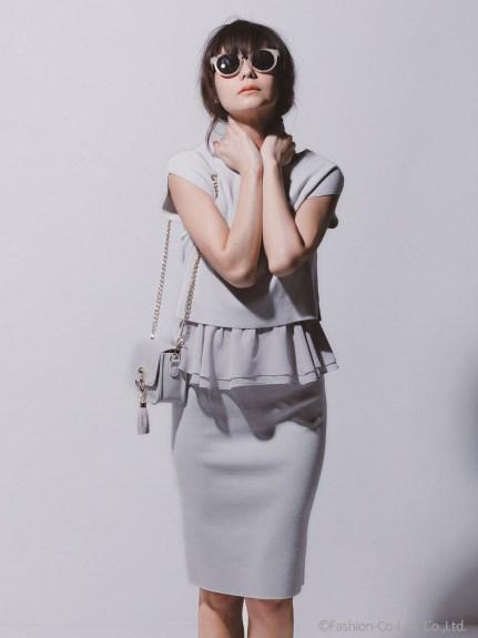マイストラーダ裾フリルニットアップ(ニット+スカートSET)