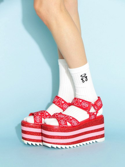キャンディストリッパー  MY HEART KITTY LAME HIGH SOLE SANDAL