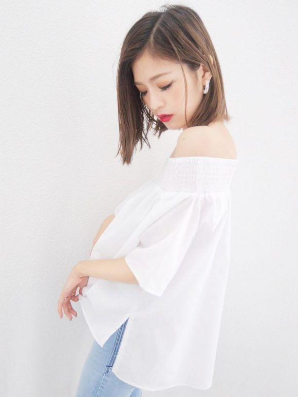 EMODA HALF OFF SHOULDER トップ