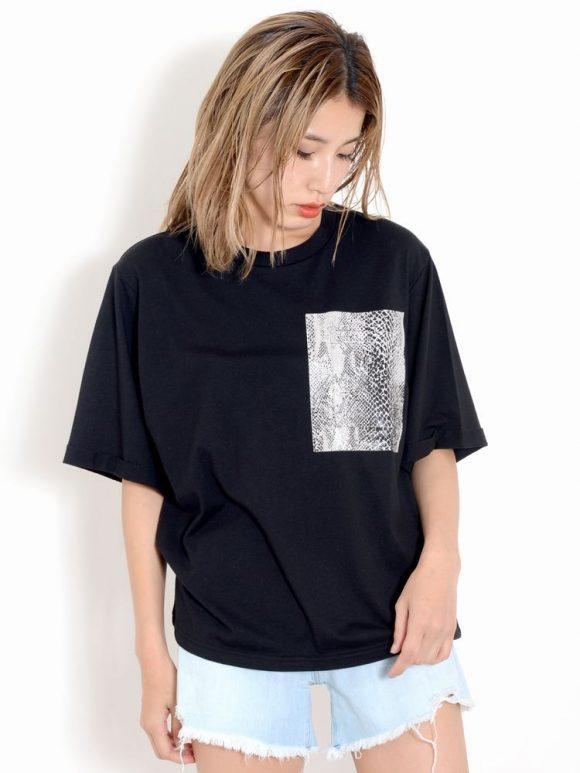 EMODA gloss print Tシャツ