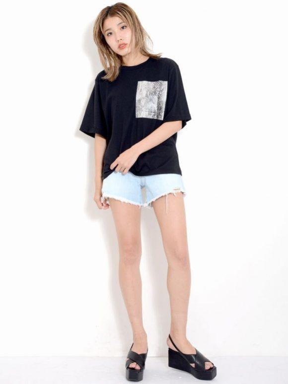 EMODA gloss print Tシャツ2