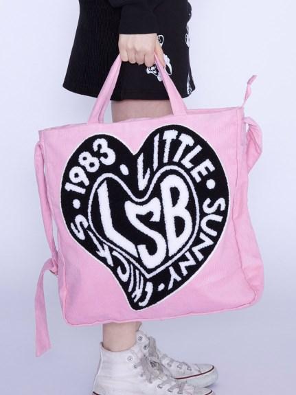 リトルサニーバイト LSB symbolic corduroy sholder bag