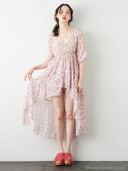 Rosarymoon デザートフラワーローブドレス